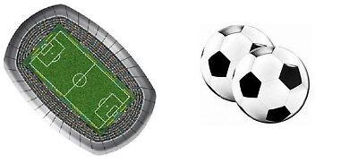 Fußball-Stadion 8 Papp-/Grillteller, 20 Fußball-Servietten / Einweg***NEU***