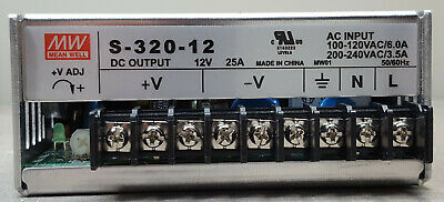 Mean Well Power Supply 300w 12v 25amodel S-320-12 Input 115 Or 220