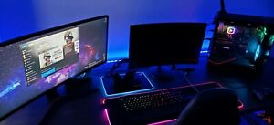 Gaming set up (pc-monitors-keyboard-mouse-etc)