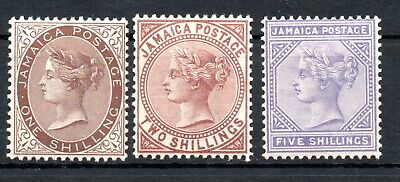 JAMAICA , 1897 , scarce set HIGH DEFINITIVES up to 5 SHILLINGS , MH !