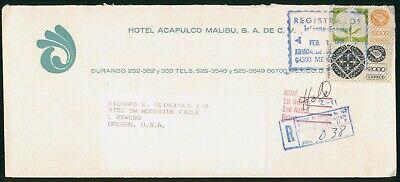 Mayfairstamps Mexico 1991 Hotel Acapulco Malibu Reg 1st Notice Cover wwo_59301