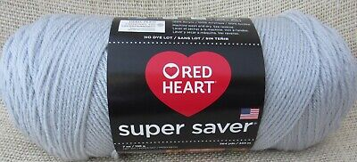 Red Heart Super Saver Light Grey Acrylic 7 oz