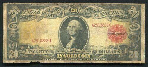 "FR. 1180 1905 $20 TWENTY DOLLARS ""TECHNICOLOR"" GOLD CERTIFICATE CURRENCY NOTE"