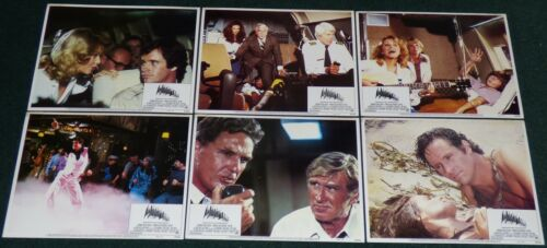 AIRPLANE 1980 ORIGINAL LOBBY CARD SET OF 6 LESLIE NIELSEN JULIE HAGERTY