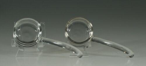 Set of 2 Vintage Depression Glass Crystal 5 Inch Ladles c.1935