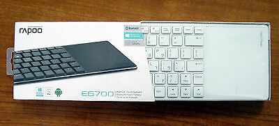Brand Rapoo E6700 Bluetooth Touch keyboard 56mm Slim Design Support W8/RT for sale  Shipping to Canada