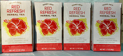 Trader Joe's Red Refresh Herbal Tea - Hibiscus w/Lemongrass - 1, 2, or 4 (Tea Refresher)