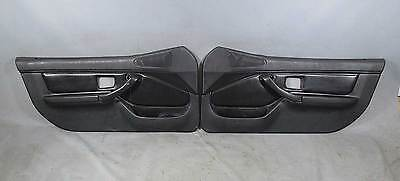 damaged bmw z3 roadster interior door trim panel pair black vinyl non airbag black interior 1996 bmw z3