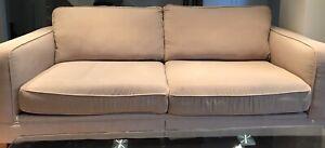 Neutral color fabric sofa - living room