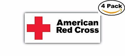 American Red Cross  Long Decal Diecut Sticker 4 Stickers