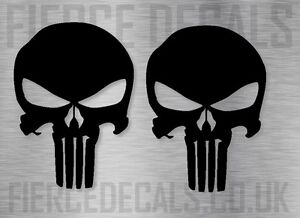2-THE-PUNISHER-SKULL-LOGO-COMIC-CAR-LAPTOP-STICKER-GRAPHIC-8cm