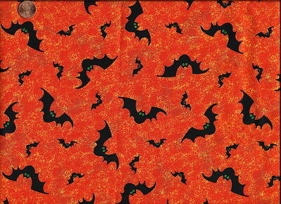 HF-13  - GOING BATTY - HALLOWEEN -OUT OF PRINT FABRIC *1 YARD ONLY*  SALE $ 4.99