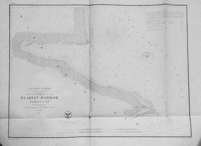 1856 United States Coast Survey Reconnaisance of Blakley Harbor, Washington,Terr