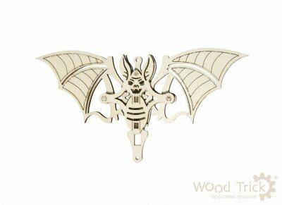 Christmas decoration WOODIK BAT - 3D Wooden Puzzle, the best  gift, Wood