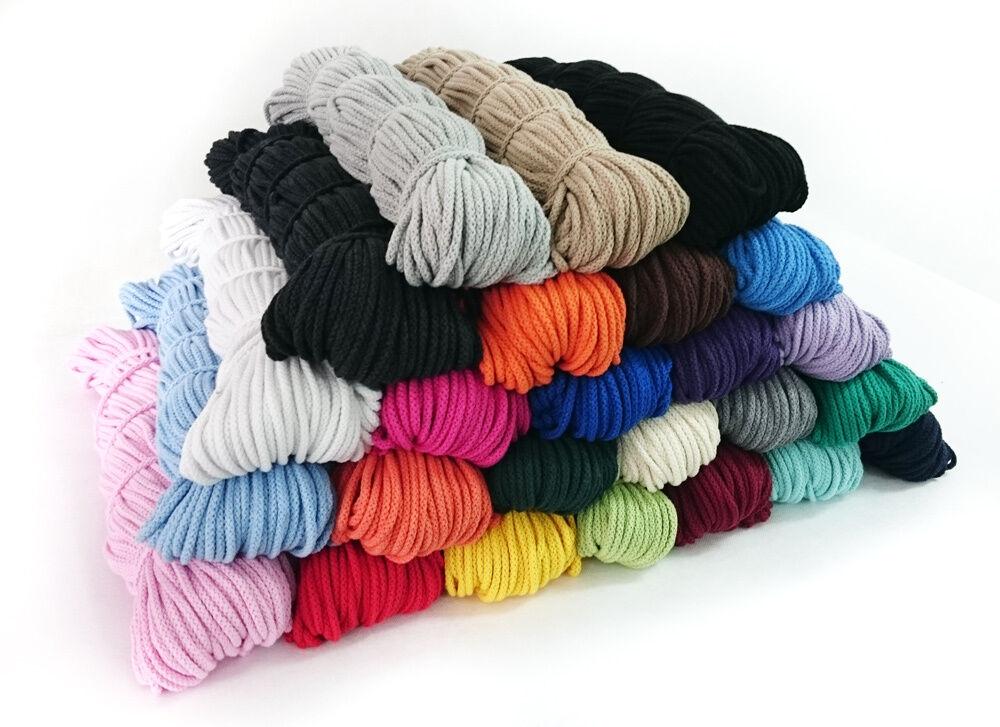 5 Meter 0,20€/m Baumwollkordel 5mm Kordel Schnur Baumwolle viele Farben