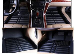 Black Floor Mats FloorLiner For BMW 3 Series 2005-2011 Waterproof All Wether Set