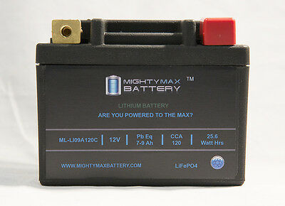 Mighty Max Lifepo4 12v 7-9ah Battery For 2004-09 Honda Cr...