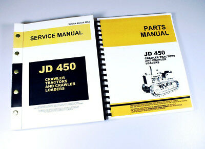 Service Manual Set For John Deere 450 Crawler Tractor Dozer Loader Parts Repair