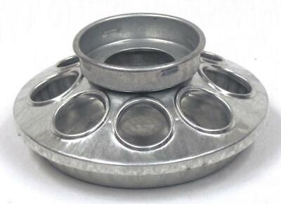 Miller 9810 Round Jar Galvanized Feeder Base For Chicken Baby Chic Coop 1-quart