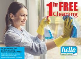 1 hour's FREE Domestic cleaning
