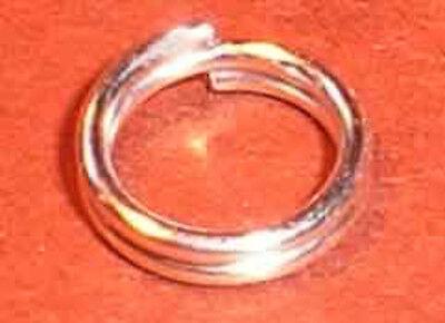 925 Sterling Silber - Spaltringe. Verbindungsring. 6mm. 5 Stück.