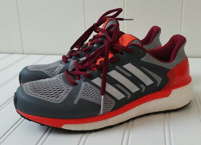 bbf330d372b63 Adidas Supernova St Boost Sneakers Shoes Male Size 6.5 Orange Gray White