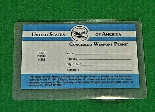 VINTAGE NOVELTY CONCEALED WEAPONS PERMIT FROM THE U.S.A. W/LAMINATING MATERIAL