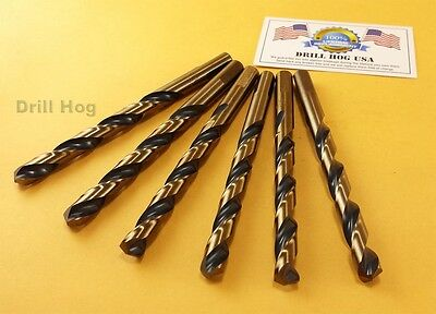 "Drill Hog 7/16"" Drill Bit Twist 7/16 HI-Molybdenum M7 Lifetime Warranty 6 Pack"