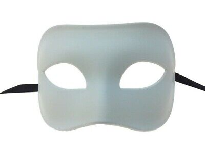Paint Your Own White Eye Mask Adult Halloween Venetian DIY Costume Accessory](Diy Halloween Adult Costumes)