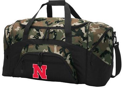Nebraska Duffle Bag Suitcase LARGE Cornhuskers Duffel Gift Idea for Him Men Man - Nebraska Cornhuskers Duffel Bag