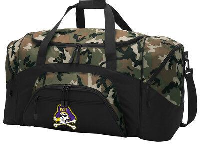 East Carolina University Duffel BAG CAMO Gym Bags Suitcase LOADED w/ POCKETS
