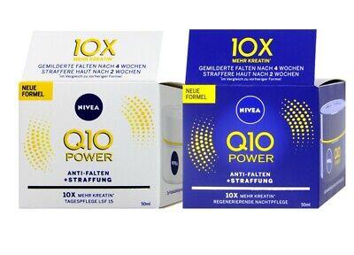 NIVEA Q10 Power Anti Falten + Straffung Nacht und Tagespflege 2x50ml 100ml..., gebraucht gebraucht kaufen  Hannover