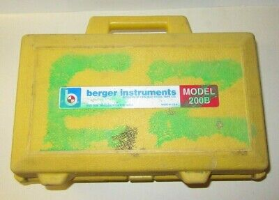 Berger Instruments Surveying Level Transit W Case - Model 200b Read