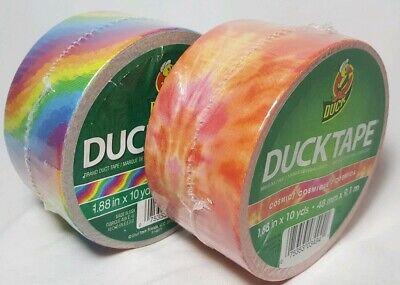 2 Rolls Of Duck Brand Duct Tape Cosmic Rainbow 1.88 In X 10 Yd Each