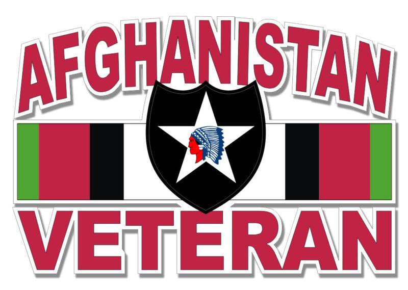 "2nd Infantry Div Afghanistan Veteran 5.5"" Sticker - Veteran Approved"