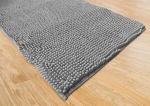 Tappeto bagno moderno spaghetti grigio cm 65x130 ebay - Tappeto moderno grigio ...