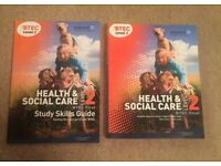 BTEC Level 2 Health and Social Care Text Book 9781846906817 and Study Skills Guide 9781846905742