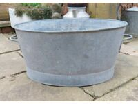 Vintage large French tub / garden planter
