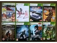 8x XBox 360 games for sale includes Dead or Alive Xtreme 2, TDU 2, Halo 4, Dante's Inferno etc