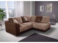 Supreme Quality Furniture --- Brand New Byron 3 And 2 sofa or corner sofa in jumbo cord fabric