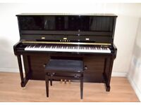 Kawai K3 K-3 Upright Black Piano + Stool (Soft Fall System) Excellent Condition