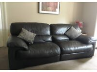 Luxury leather couches and chair