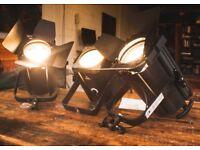 Fresnels 2x new Selecon Acclaim 1 x 80's CCT