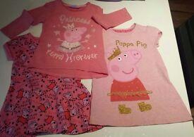 ☆ 2-3 years Girls Peppa Pig tops ☆ M&S George