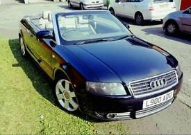 Audi A4 convertible 1.8 T Sport 2003 Executive Model Leather Seats Black MINT Condition
