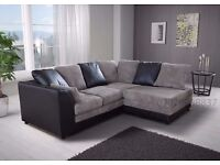 ❤Black Grey Brown Beige❤ Branded!! New Byron Corner Sofa Avlble in Left/Right Hand or 3 and 2 Seater