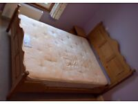 King size bed and pocket spring mattress