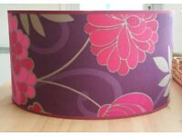 £10 - Lovely purple print lampshade