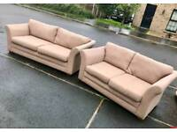 3 and 2 seater sofa in a fawn over MINT MINT CONDITION