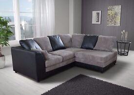 **7-DAY MONEY BACK GUARANTEE!**- Benson Corner Sofa Suite or 3 and 2 Set -